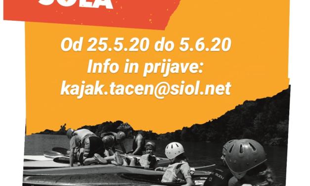 KAJAK ŠOLA – 25.5. – 5.6.2020